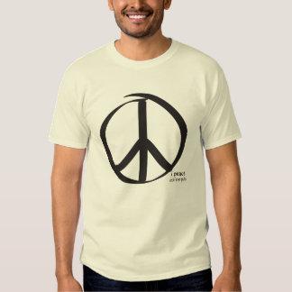 i peace black - eat love pray t-shirt