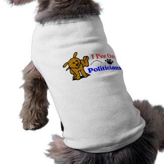I Pee On Politicians Dog Tee