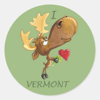 I pegatina de los alces de Vermont del corazón