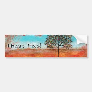 I pegatina de los árboles del corazón de la pintur pegatina para auto