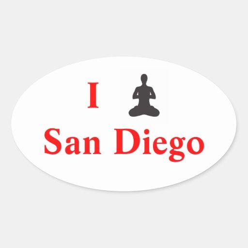 I pegatina de San Diego de la yoga