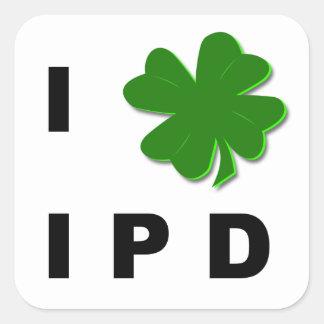 I pegatina del blanco del trébol IPD