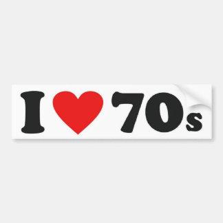 I pegatina para el parachoques #2 del corazón 70s pegatina para auto