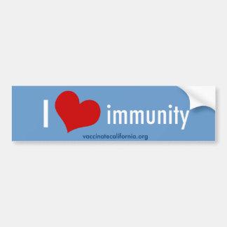 I pegatina para el parachoques de la inmunidad del pegatina para coche
