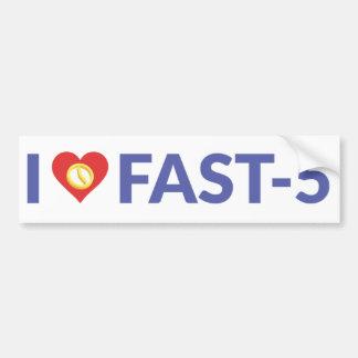 I pegatina para el parachoques del corazón Fast-5 Pegatina Para Auto