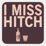 I pegatinas de Srta. Hitch (luz en oscuridad) Calcomania Cuadradas Personalizadas