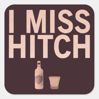 I pegatinas de Srta. Hitch (luz en oscuridad) Pegatina Cuadrada