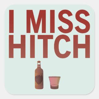 I pegatinas de Srta. Hitch (oscuro en luz) Pegatina Cuadrada