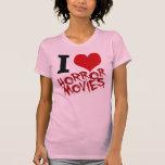I películas de terror del corazón camisetas