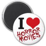 I películas de terror del corazón imán de frigorífico