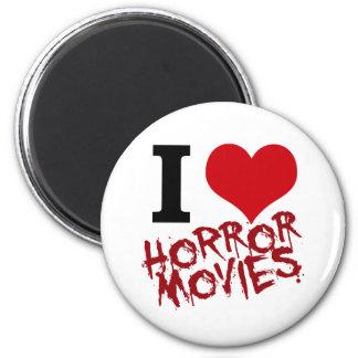 I películas de terror del corazón imán redondo 5 cm