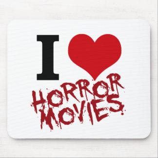 I películas de terror del corazón mouse pads