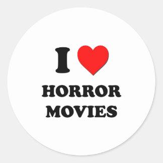 I películas de terror del corazón etiquetas redondas