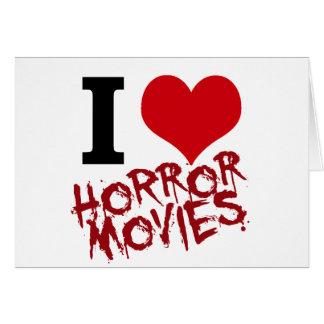 I películas de terror del corazón tarjeta de felicitación