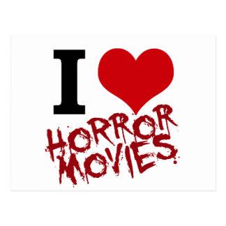 I películas de terror del corazón tarjeta postal