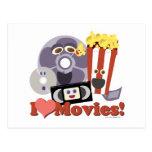 ¡I películas del corazón! Tarjetas Postales