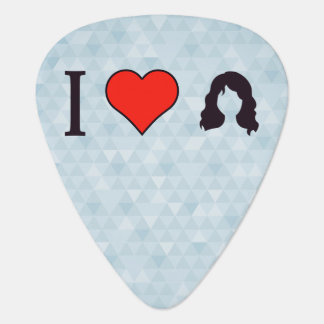 I pelo ondulado largo del corazón plumilla de guitarra