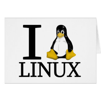 I Penguin Linux 2 Greeting Card