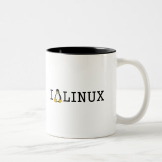 I Penguin Linux Two-Tone Coffee Mug