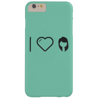 I pensamientos de la hembra del corazón funda de iPhone 6 plus barely there