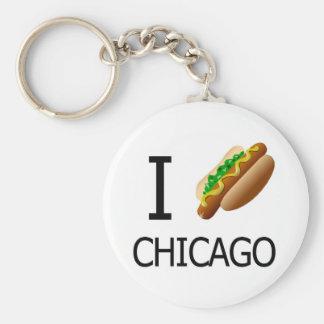 I perrito caliente Chicago Keychainx Llavero Redondo Tipo Pin