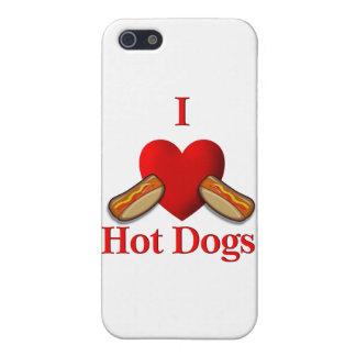 I perritos calientes del corazón iPhone 5 protector