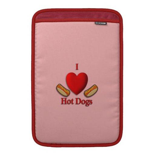 I perritos calientes del corazón fundas MacBook