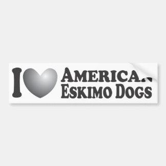 I perros esquimales americanos del corazón - pegat pegatina para auto