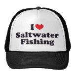 I pesca del agua salada del corazón gorras de camionero