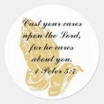 I Peter 5:7 Sticker Round Sticker
