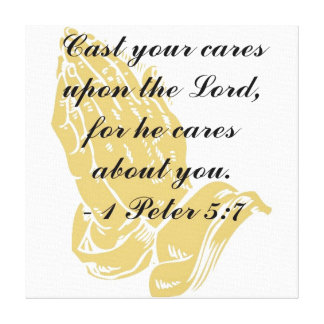 I Peter 5:7 Wrapped Canvas Print