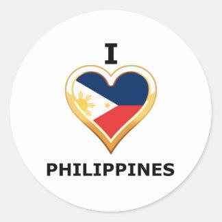 I Philippines love Pegatina Redonda