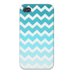 i Phone 4 Blue Ombre Chevrons Pattern Cases For iPhone 4