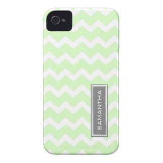 i Phone 4 Mint Chevron Custom Name iPhone 4 Cases