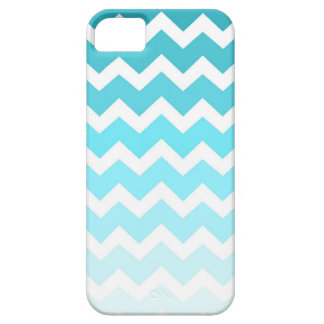 i Phone 5 Blue Ombre Chevrons Pattern iPhone SE/5/5s Case