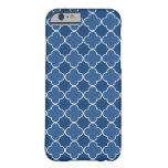i Phone 5 Blue Quatrefoil Pattern iPhone 6 Case