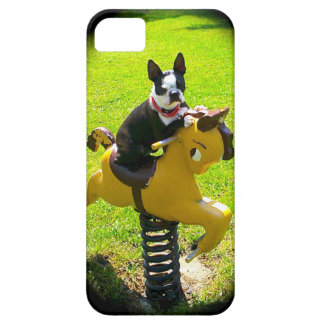 I-PHONE 5 CASE     BOSTON TERRIER PLAY TIME