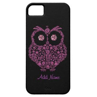I Phone 5 Case OWL LOVER Pink BLING