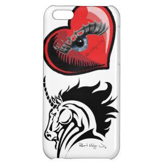I Phone 5 Case with Eye Heart Unicorns Artwork iPhone 5C Cover