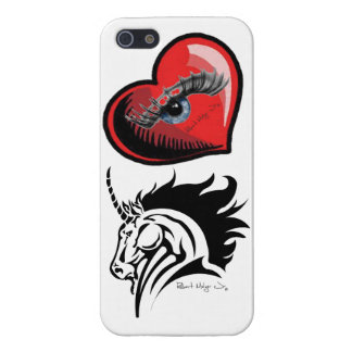 I Phone 5 Case with Eye Heart Unicorns Artwork iPhone 5 Covers