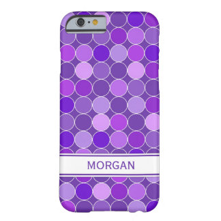 i Phone 5 Custom Name Purple Circles Pattern Barely There iPhone 6 Case