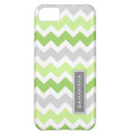 i Phone 5 Lime Ombre Chevron Custom Name Case For iPhone 5C