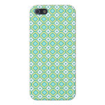 i Phone 5 Lime Teal Retro Pattern iPhone 5 Cases