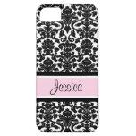 i Phone 5 Pink Damask Custom Name iPhone 5 Case