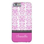 i Phone 5 Pink Damask Custom Name iPhone 6 Case