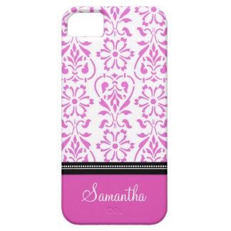 i Phone 5 Pink Damask Custom Name iPhone SE/5/5s Case