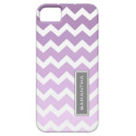 i Phone 5 Purple Ombre Chevron Custom Name iPhone 5 Cases