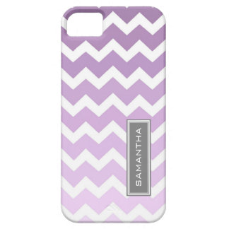 i Phone 5 Purple Ombre Chevron Custom Name iPhone SE/5/5s Case