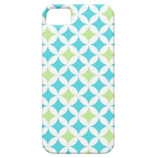 i Phone 5 Teal Geometric Pattern iPhone SE/5/5s Case