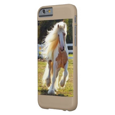 I phone 6/6 case with long maned horse